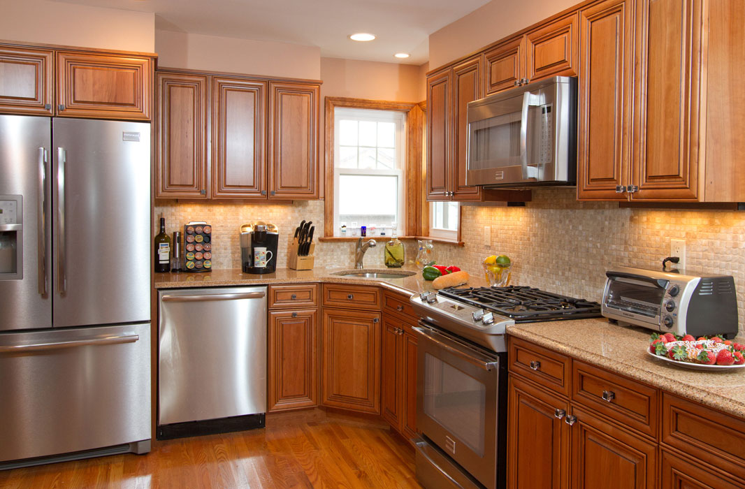 Medium Brown Kitchen Cabinets With Granite Countertops Home Depot Granite Countertops Brown