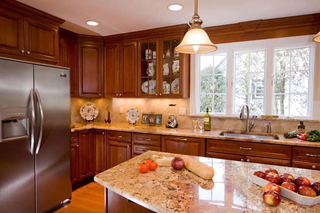 kitchen with brown cabinets kitchen portfolio r a krendel contracting inc 22199